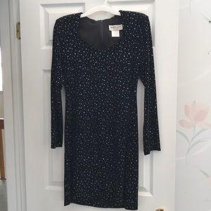Navy & Silver Evening Dress